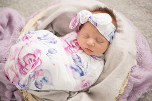 Lilac Skies Snuggle Swaddle Sack Set