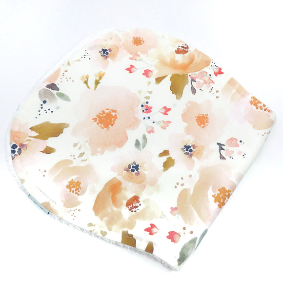 Peach Blossoms Burp Cloth