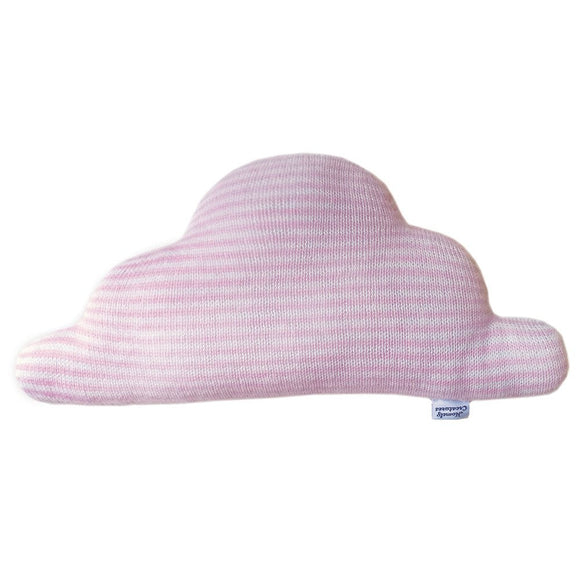 HOMELY CREATURES PINK STRIPES CLOUD CUSHION - LARGE