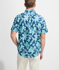 Slim Fit Tropical Leaves Murray Short-Sleeve Button-Down Shirt