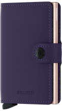 Load image into Gallery viewer, Miniwallet Matte Purple-Rose