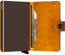 Load image into Gallery viewer, Miniwallet Cleo Ochre-Brown