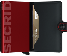 Load image into Gallery viewer, Miniwallet Matte Black & Red