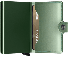 Load image into Gallery viewer, Miniwallet Metallic Green