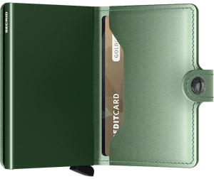 Miniwallet Metallic Green