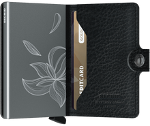 Load image into Gallery viewer, Miniwallet Stitch Magnolia Black