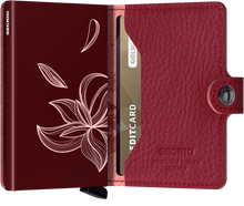 Load image into Gallery viewer, Miniwallet Stitch Magnolia Rosso