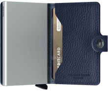 Load image into Gallery viewer, Miniwallet Veg Navy-Silver