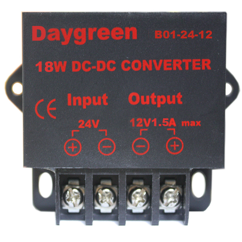 24V to 12V 1.5A 18W DC DC Step Down Converter Voltage Regulator