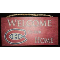 "Montreal Canadiens ""Welcome Top Our Home"" Wood Sign"