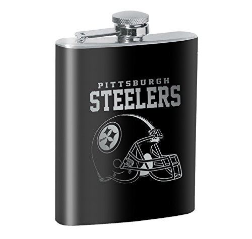 Pittsburgh Steelers 8oz. Engraved Flask