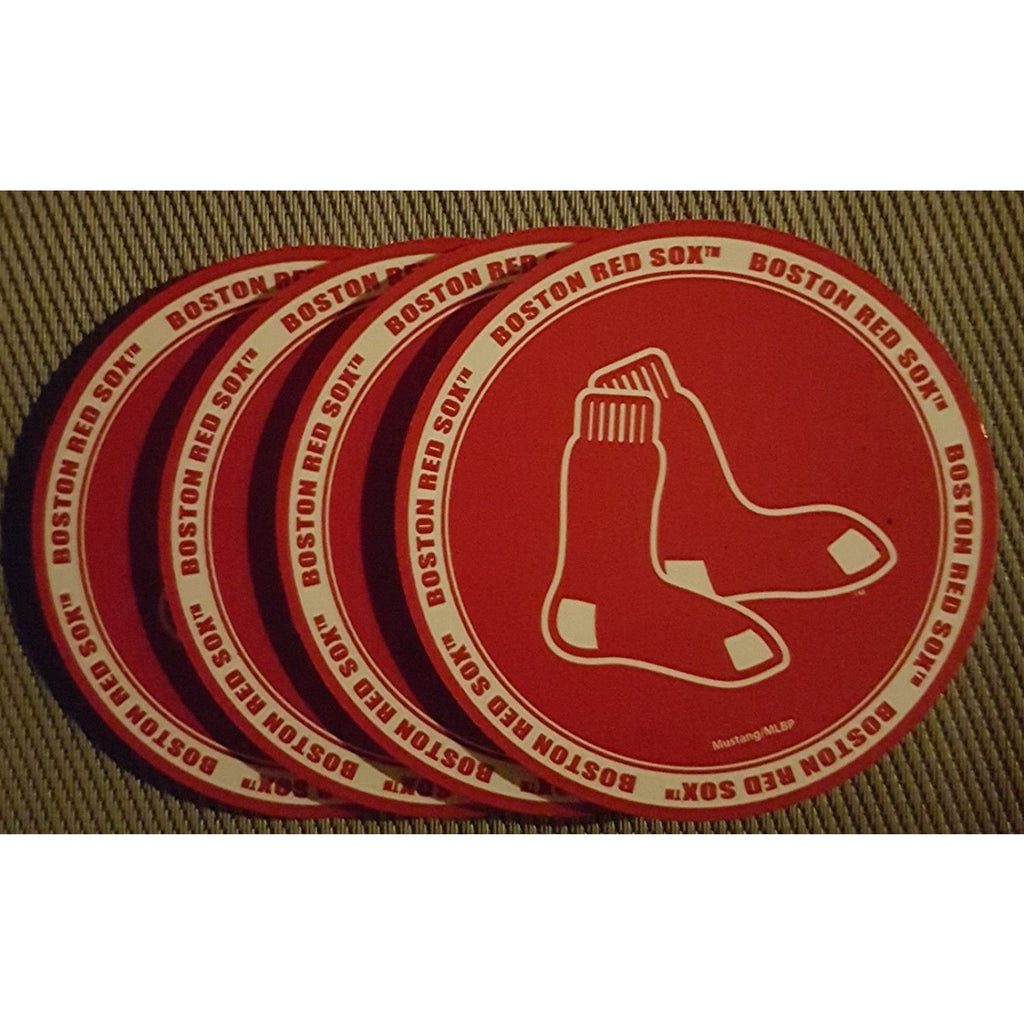 Boston Red Sox PVC Coasters 4-Pack