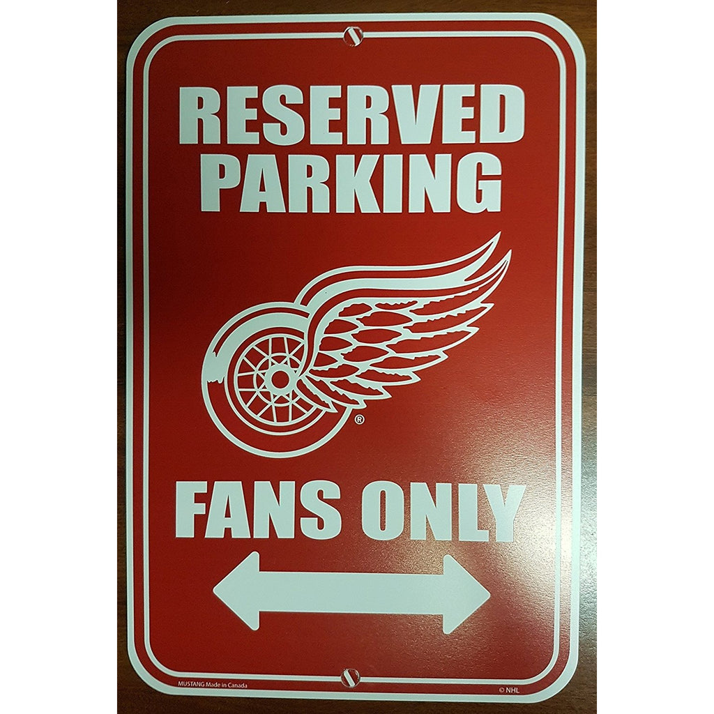 Detroit Red Wings Reserved Parking Sign