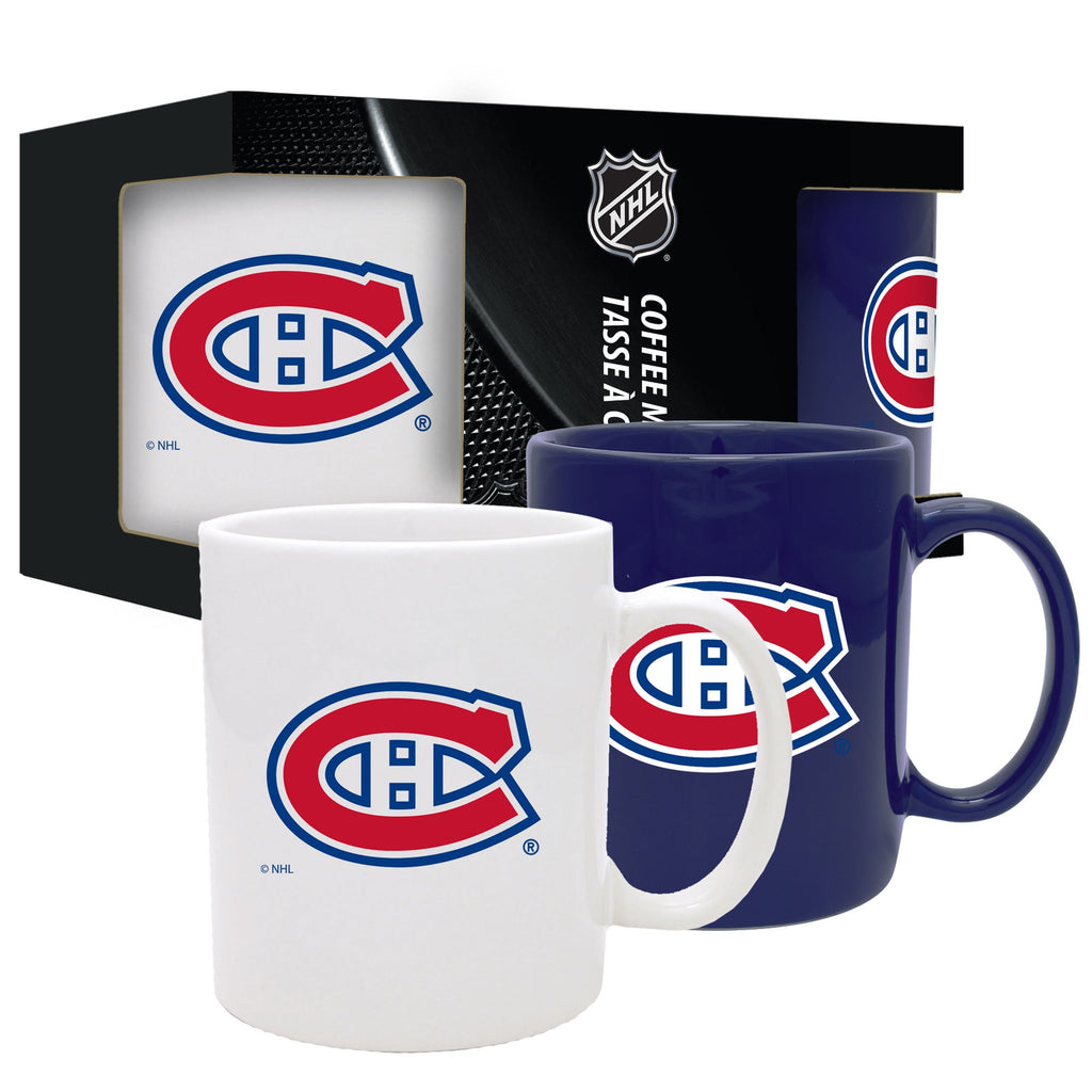 Montreal Canadiens Home and Away Ceramic Mug Set