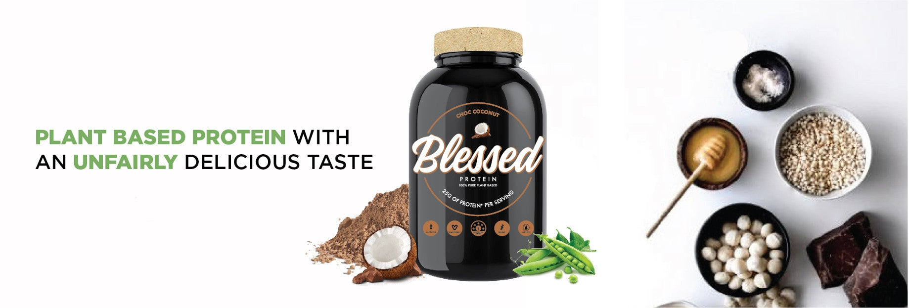 Blessed Protein By Clear Vegan | EHPlabs | MVMNT LMTD | Australia