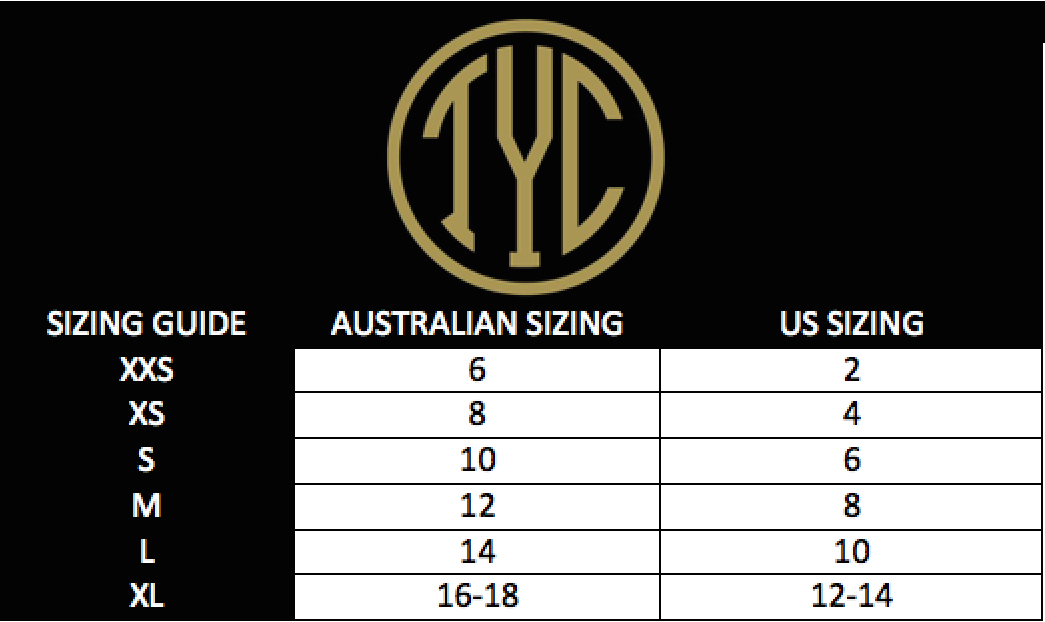Till You Collapse Size Guide | MVMNT LMTD | AUSTRALIA