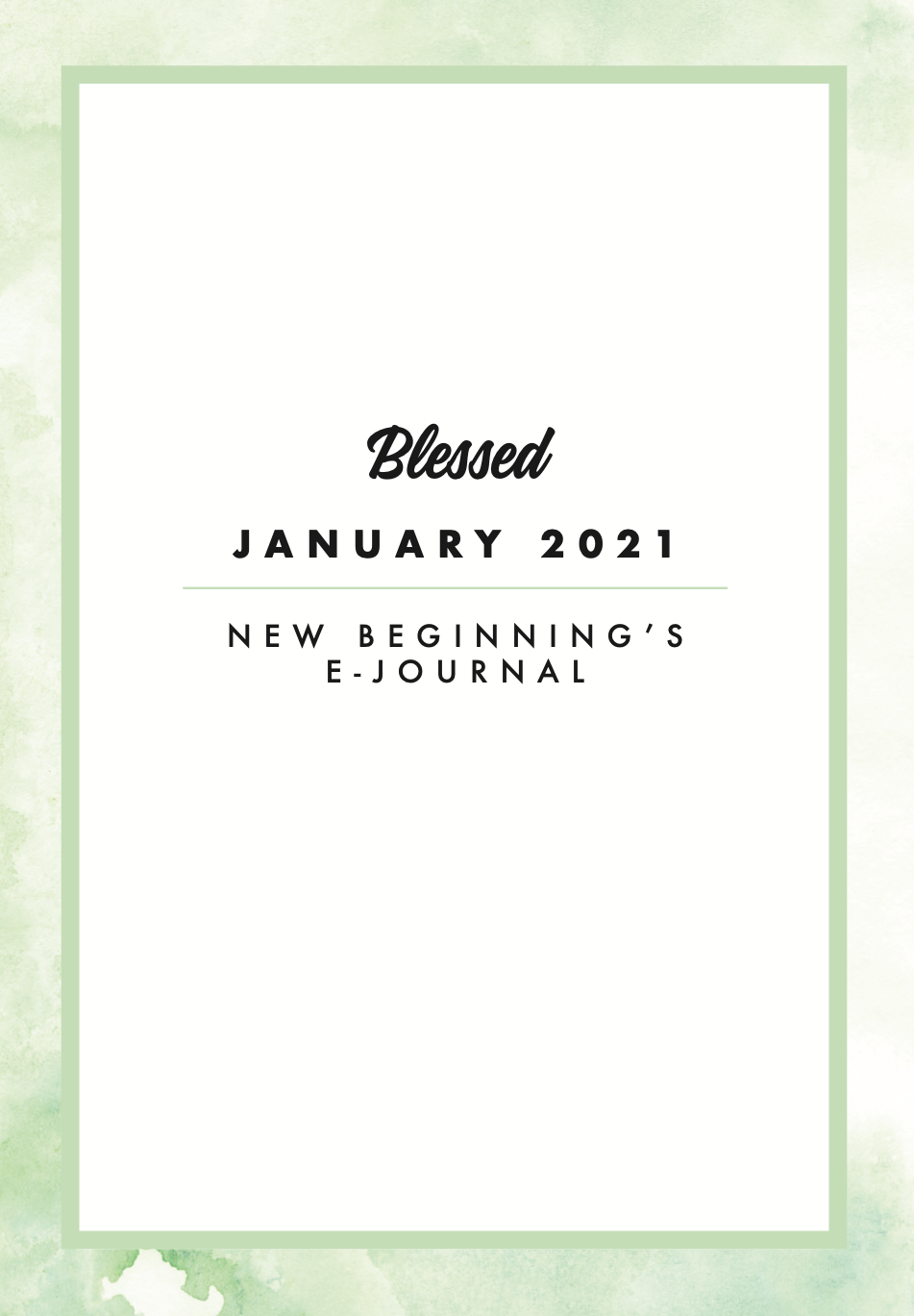 New Blessed Protein Beginnings Journal | MVMNT LMTD