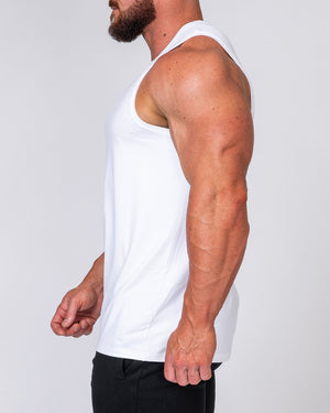 Muscle Nation | Mens Basic Tank - White | MVMNT LMTD