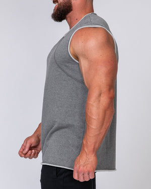 Muscle Nation | Mens Loopback Tank - Charcoal | MVMNT LMTD
