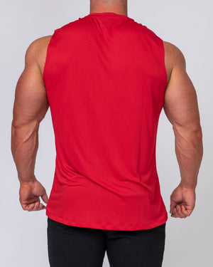 Muscle Nation | Mens Running Tank - Deep Red | MVMNT LMTD