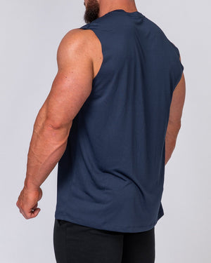 Muscle Nation | Mens Running Tank - Navy | MVMNT LMTD