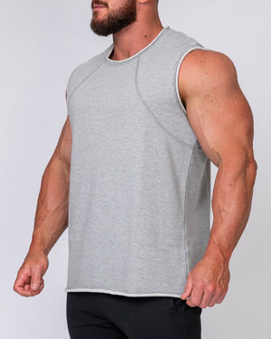 Muscle Nation | Mens Loopback Tank - Grey | MVMNT LMTD