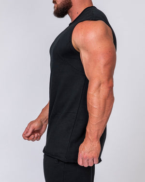 Muscle Nation | Mens Loopback Tank - Black | MVMNT LMTD