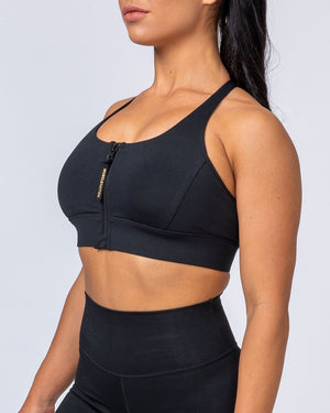 Muscle Nation | Locked And Loaded Bra - Black | MVMNT LMTD