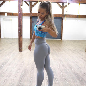 ABS2B Fitness Apparel | Marilyn Munroe Waistband | Silver Scrunch Booty Tights (PRE ORDER SIZE XS & S)