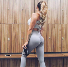 ABS2B Fitness Apparel | Marilyn Munroe Waistband | Silver Scrunch Booty Tights