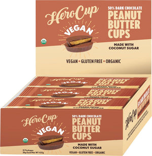 HeroCup | 50% Dark Chocolate Peanut Butter Cups | MVMNT LMTD