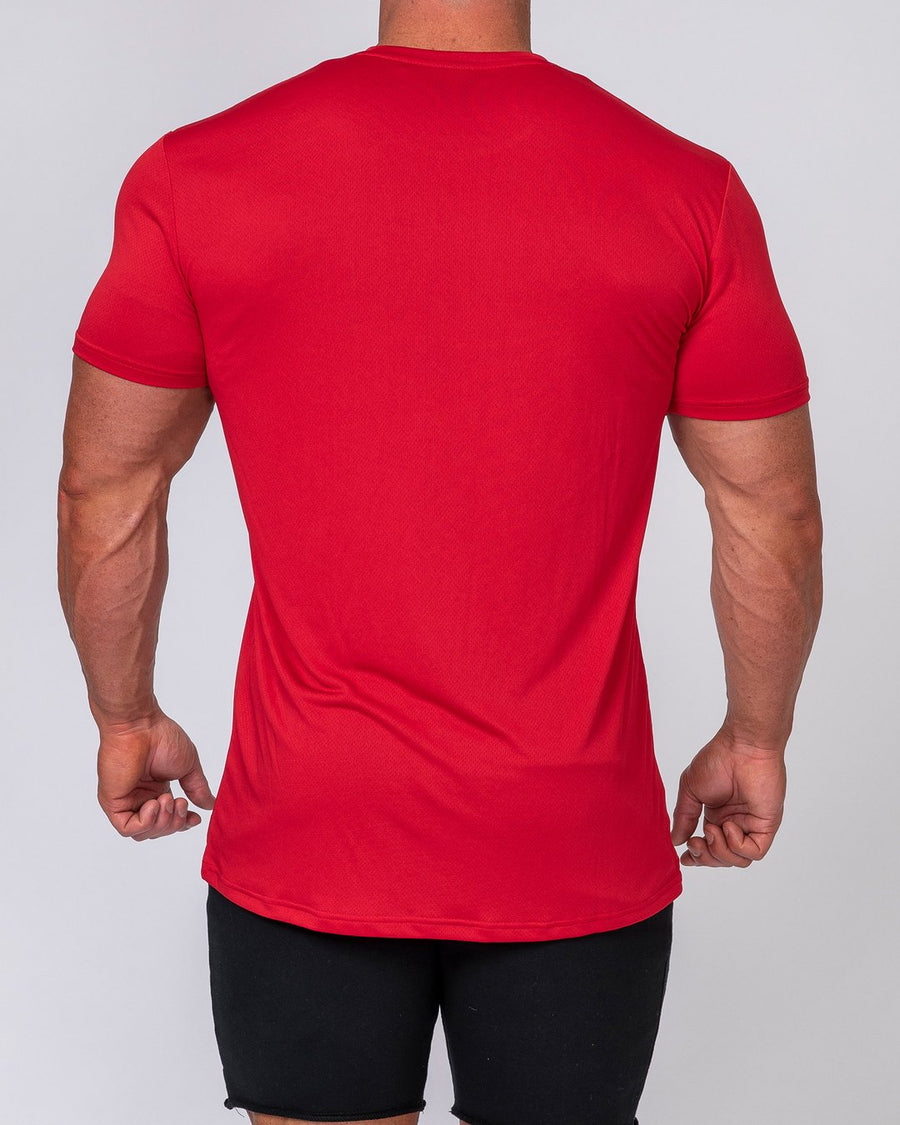 Muscle Nation | Mens Running Tee - Deep Red | MVMNT LMTD