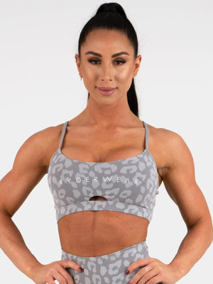 Ryderwear | Animal Sports Bra - Leopard Grey | MVMNT LMTD