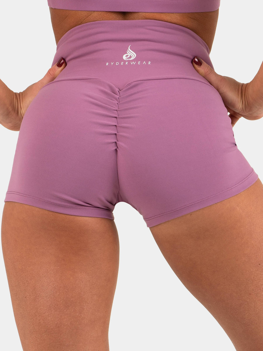 Ryderwear | Animal Scrunch Bum Shorts - Purple | MVMNT LMTD