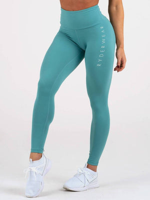 Ryderwear | Staples Scrunch Bum Leggings - Teal | MVMNT LMTD