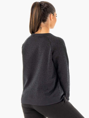 Ryderwear | Adapt Boyfriend Sweater - Black Leopard | MVMNT LMTD