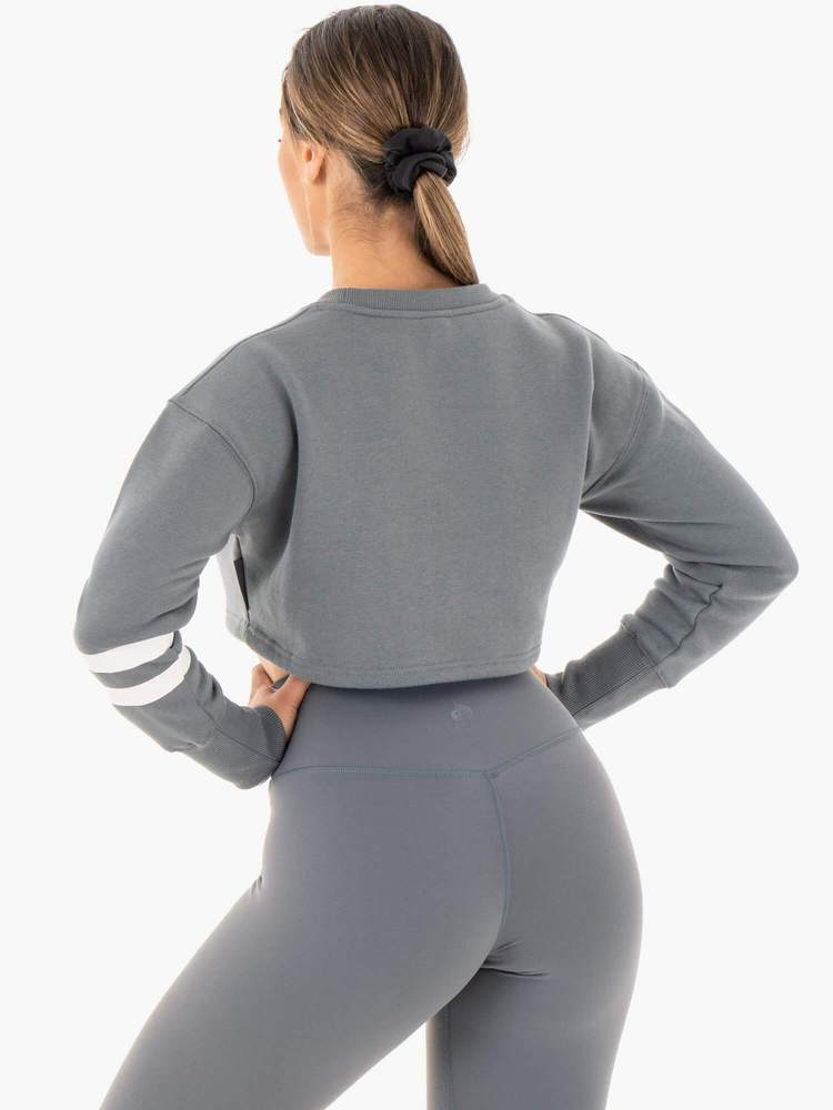 Ryderwear | Motion Cropped Sweater - Charcoal | MVMNT LMTD