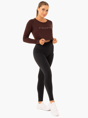 Ryderwear | Staples Cropped Sweater - Chocolate | MVMNT LMTD