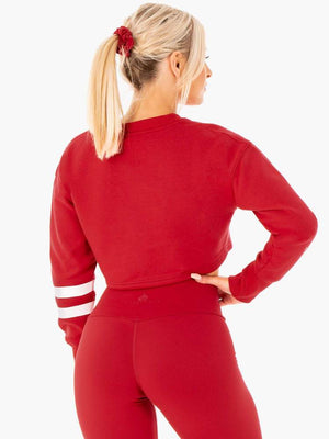 Ryderwear | Motion Cropped Sweater - Red | MVMNT LMTD