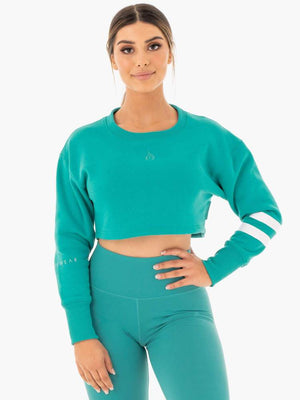 Ryderwear | Motion Cropped Sweater - Teal | MVMNT LMTD