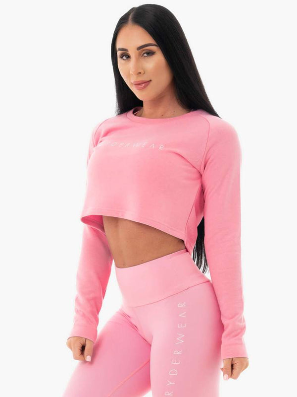 Ryderwear | Staples Cropped Sweater - Pink | MVMNT LMTD