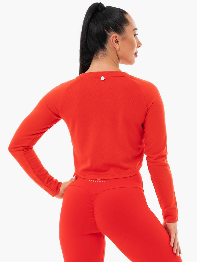 Ryderwear | Staples Cropped Sweater - Red | MVMNT LMTD