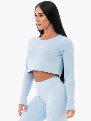 Ryderwear | Staples Cropped Sweater - Sky Blue | MVMNT LMTD