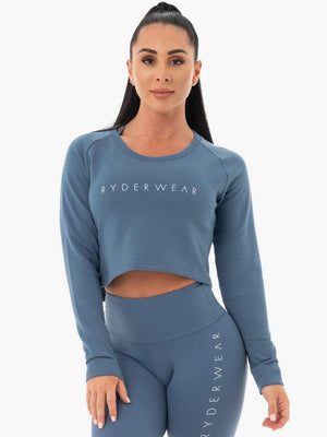 Ryderwear | Staples Cropped Sweater - Steel Blue | MVMNT LMTD