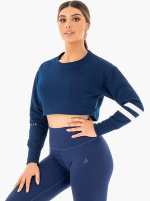 Ryderwear | Motion Cropped Sweater - Navy | MVMNT LMTD