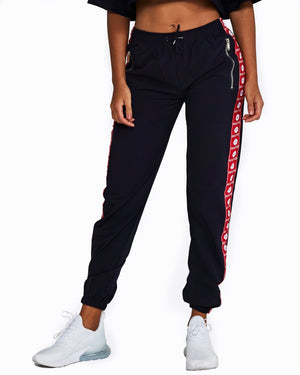 Nicky Kay | MVMNT LMTD | Navy Logo Track Pants with Red + White | Australia