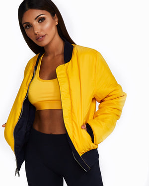 Nicky Kay | MVMNT LMTD | Reversible Bomber Jacket: Navy + Yellow | Australia