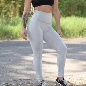 Til You Collapse | MVMNT LMTD | Premium Slate Grey Classic Leggings | Australia
