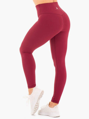 Ryderwear | NKD High Waisted Leggings - Berry Red | MVMNT LMTD