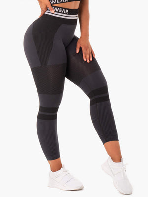 Ryderwear | Freestyle Seamless High Waisted Leggings - Black | MVMNT LMTD